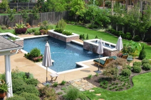 Pool Design With Waterfall And Fountain