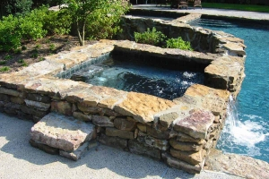 Square Spa Rock Decor Waterfall Fountain